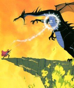 Prince Phillip fighting Maleficent