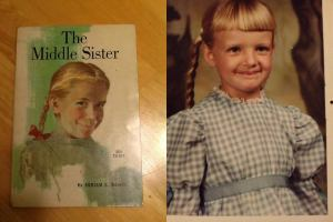 Yes, that's me. Yes, I was the middle sister. Yes, my mom bought that book for me. Yes, she let me dress like Laura Ingalls.