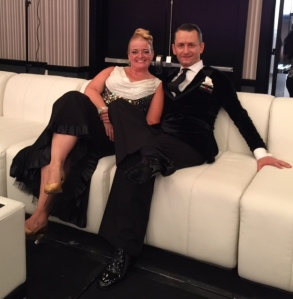 just chilling before championship rounds on the fab white couches in the ballroom